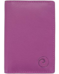 Leather Credit Card Holder- RFID Protection Berry